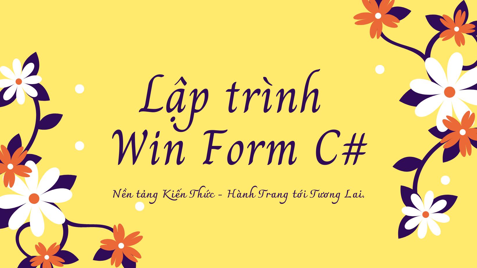Lập trình WinForm C#