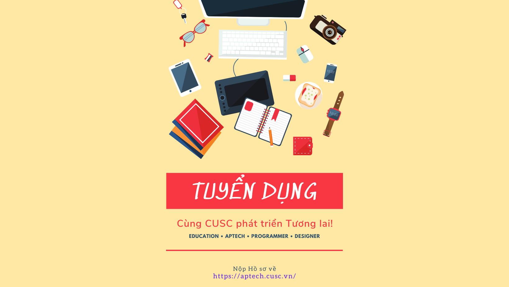 Tuyển dụng Giảng viên Bộ môn Phần mềm CUSC 09/2021